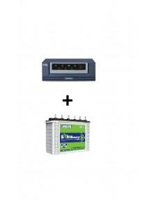 Luminous Inverter 700va and EC 18036 Tubular Battery