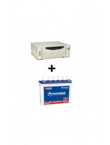 Microtek Inverter SW 700 and ET 648 Tubular Battery