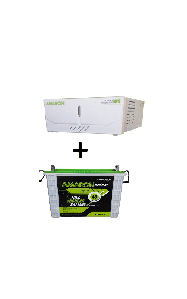 Amaron Sinewave Inverter 900va And Crtt150 Tubular Battery