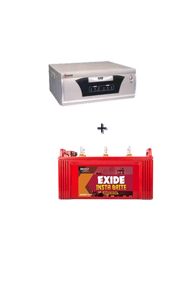 Microtek inverter and exide battery