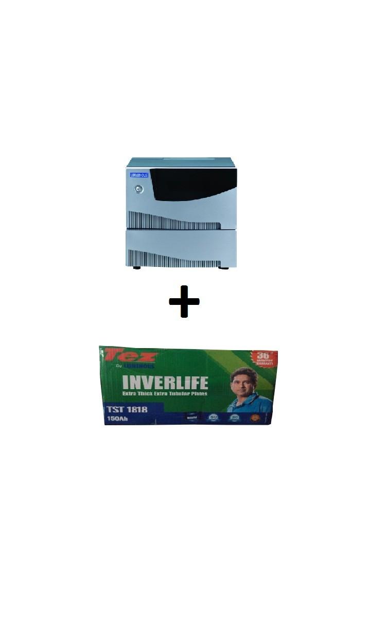 Luminous Inverter Sw 5kva Andtst 1818 Tubular Battery