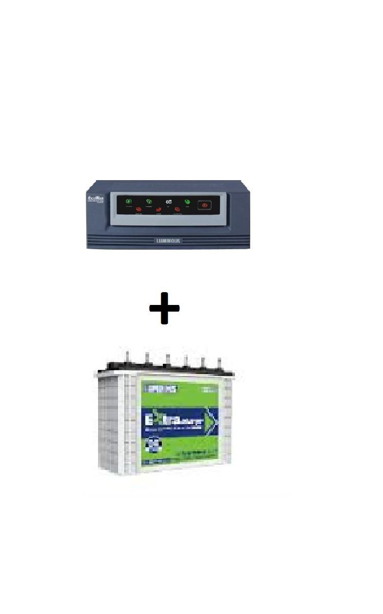 Luminous Inverter 900va And Ec 18036 Tubular Battery