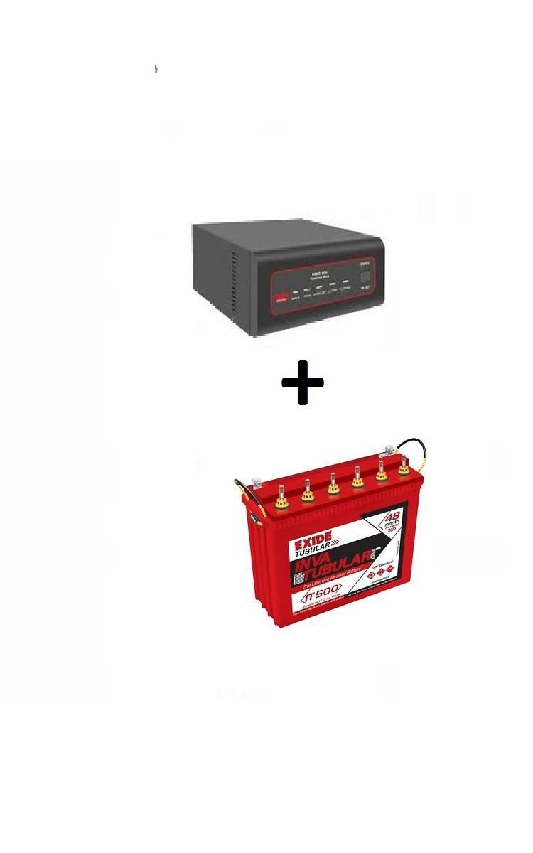 Exide Sinewave Inverter 1500va And It 500 Tubular Battery