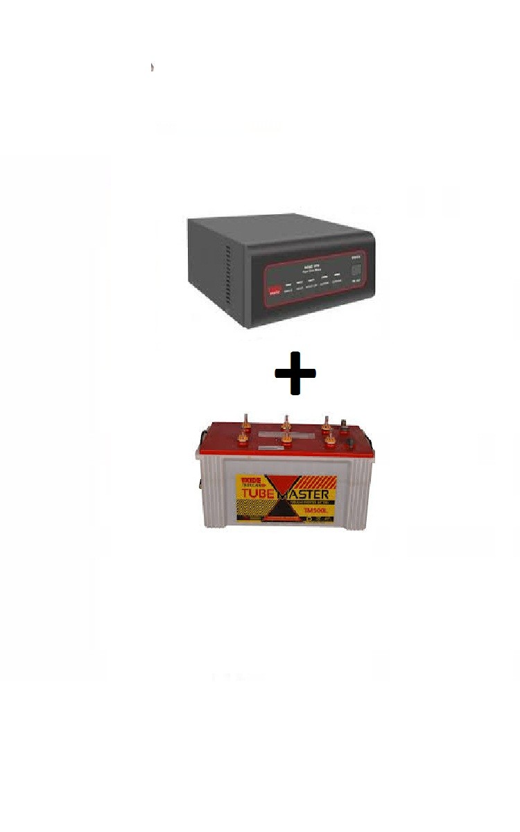 Exide Sinewave Inverter 700va And Tm500 Tubular Battery