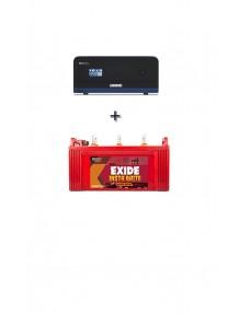 Luminous Inverter 1100 and Exide Insta Brite 1500 Tubular Battery