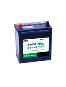 Tata Green Car Battery DIN44L Silver Plus